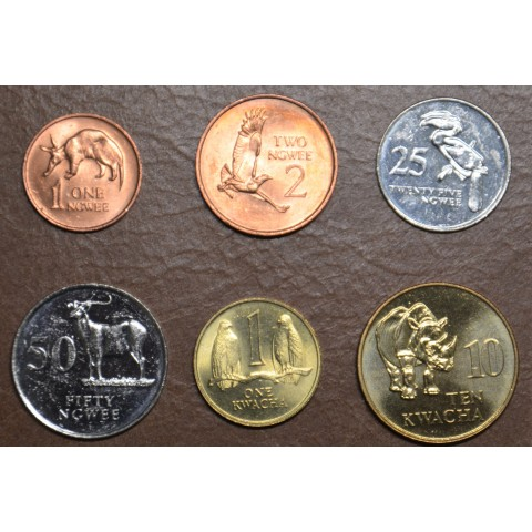 Zambia 6 coins 1982-1992 (UNC)