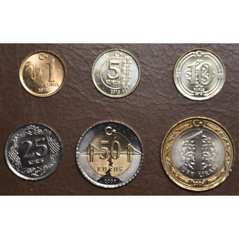 Turkey 6 coins 2009-2018 (UNC)