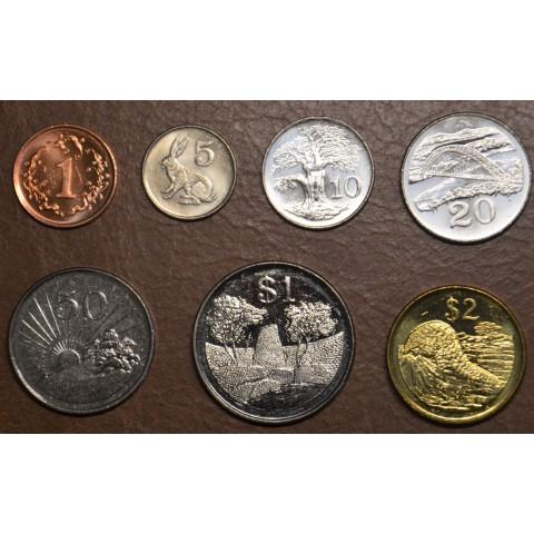 Zimbabwe 7 coins 1980-2003 (UNC)