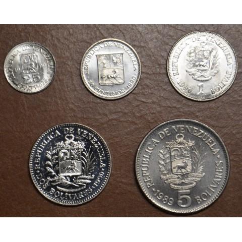 Venezuela 5 coins 1989-1990 (UNC)