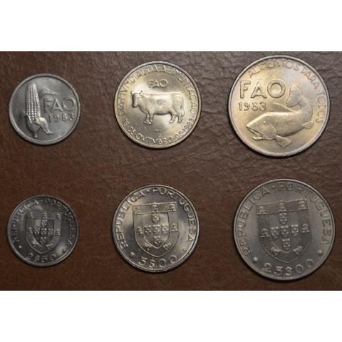 Portugal 3 coins 1983 (UNC)