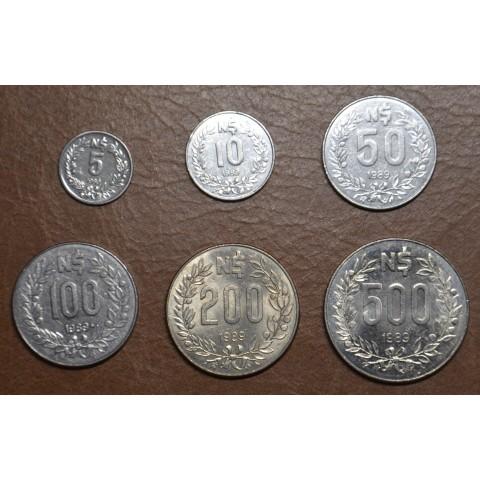 Uruguay 6 coins 1989 (UNC)