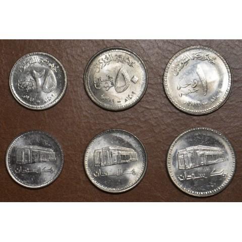Sudan 3 coins 1989 (UNC)