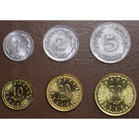 Tunisia 6 coins 1960-2007 (UNC)