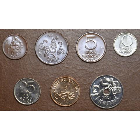 Norway 7 coins 1972-2010 (UNC)