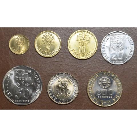 Portugal 7 coins 2001 (UNC)