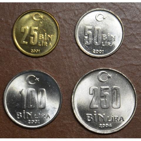 Turkey 4 coins 2001-2004 (UNC)