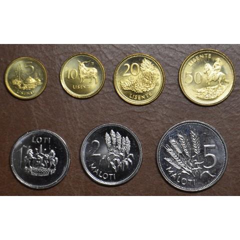 Lesotho 7 coins 1996-2018 (UNC)