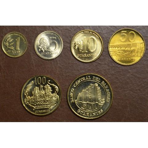 Paraguay 6 coins 1992-1998 (UNC)