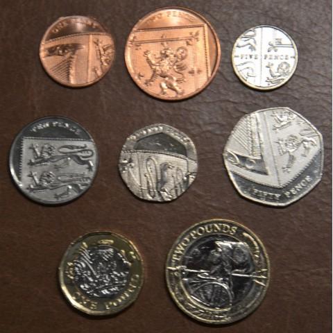 United Kingdom 8 coins 2008-2016 (UNC)