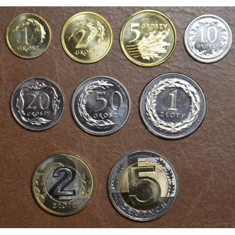 Poland 9 coins 1994-2019 (UNC)