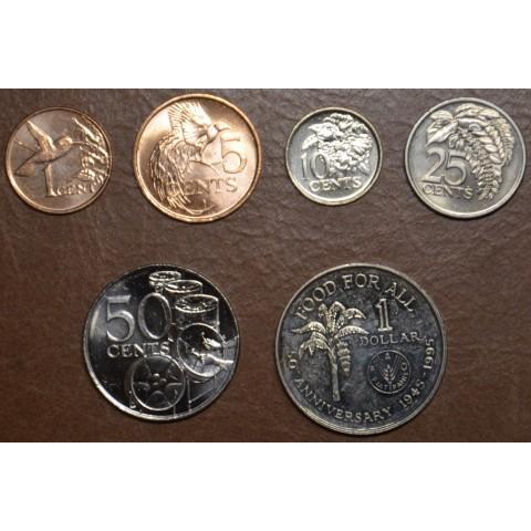 Trinidad and Tobago 6 coins 1978-2016 (UNC)