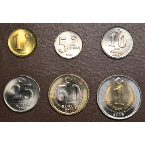 Turkey 6 coins 2005-2008 (UNC)