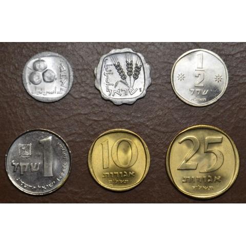 Israel 6 coins 1960-1985 (UNC)