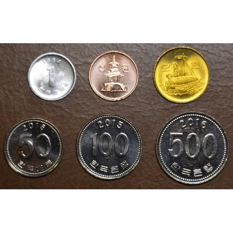 South Korea 6 coins 1982-2017 (UNC)
