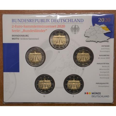 """2 Euro Germany  """"ADFGJ"""" 2020 - Brandenburg (BU)"""