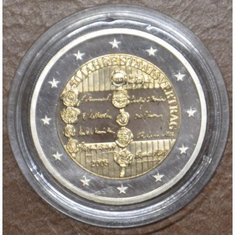 2 Euro Austria 2005 - 50th anniversary of the Austrian State Treaty (Proof)