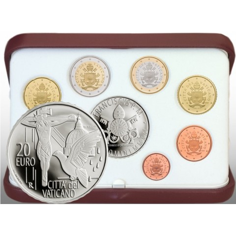 Vatican 2021 official set + 20 Euro Ag coin (Proof)