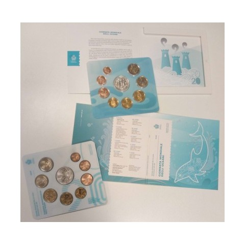 San Marino 2021 set with new design of coins and 5 Euro Ag coin (BU)