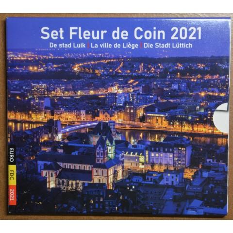 Belgium 2021 set of 10 coins Liege  (BU)