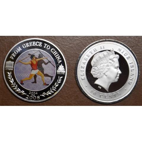 50 cent Niue 2008 - Javelin throw (Proof)