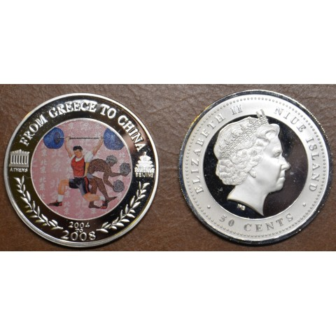 50 cent Niue 2008 - Weightlifting (Proof)