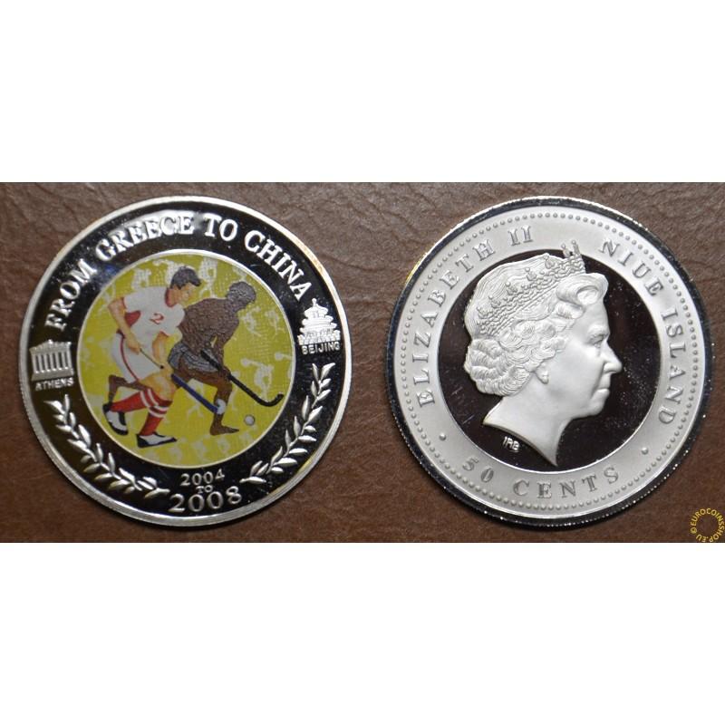 50 cent Niue 2008 - Field hockey (Proof)