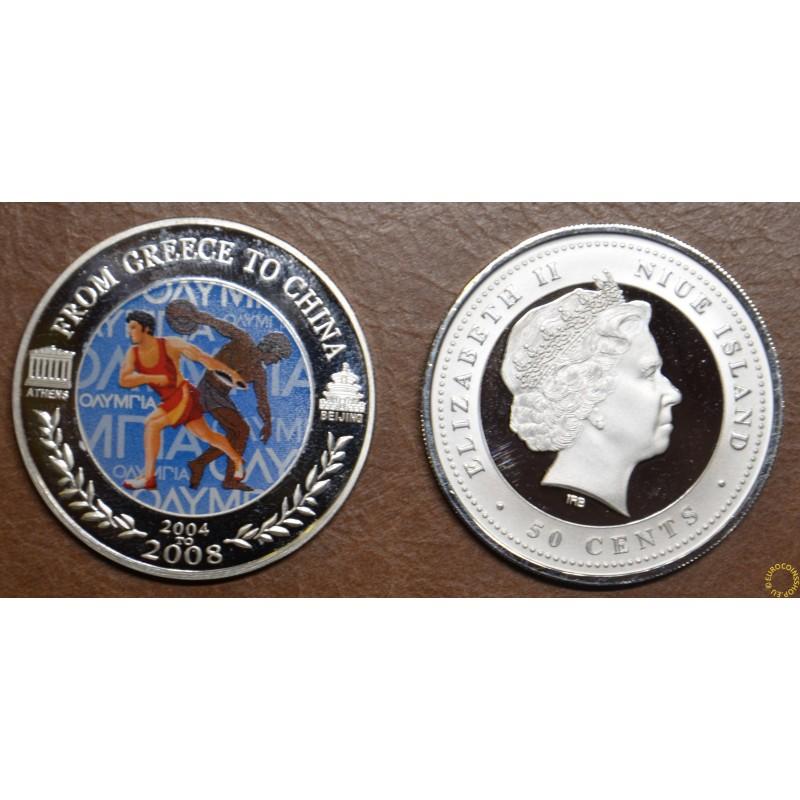 50 cent Niue 2008 - Discus throw (Proof)