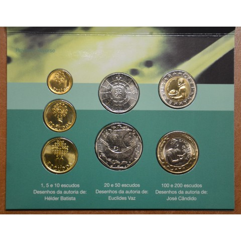 Portugal 7 coins 2001 (BU)