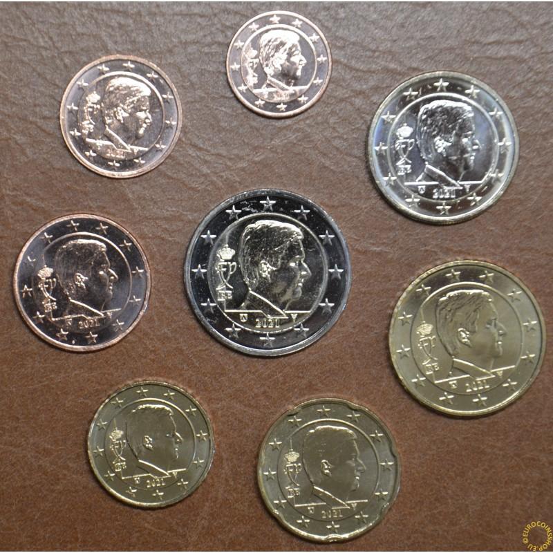 Belgium 2021 set of 8 King Philippe coins (UNC)