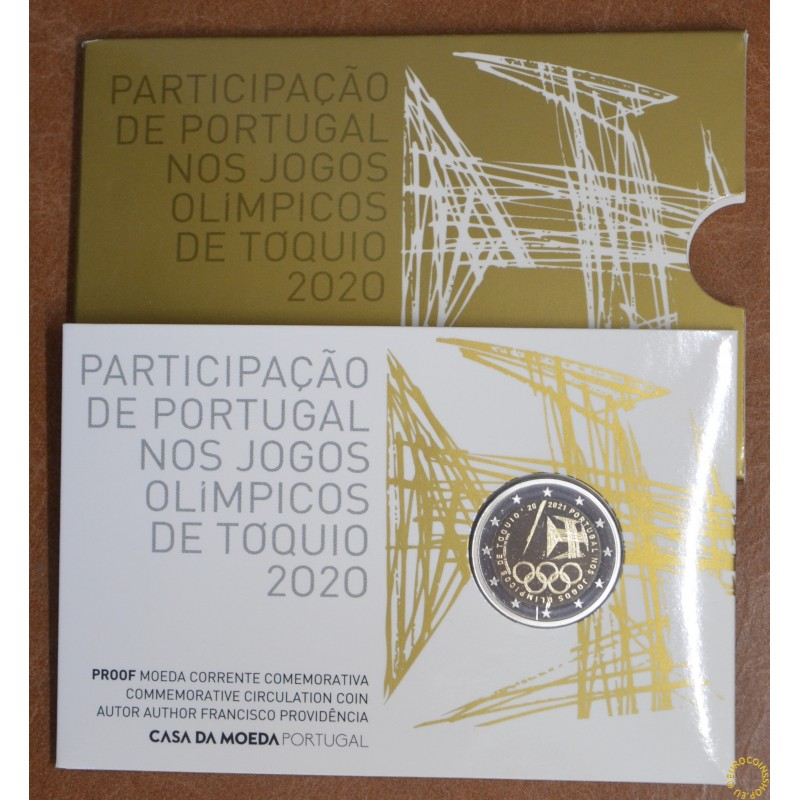 2 Euro Portugal 2021 - Tokyo Olympic Games (Proof)