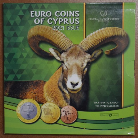 Cyprus 2021 set of coins (BU)