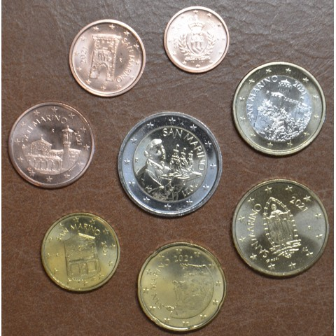 San Marino 2021 set of 8 eurocoins (UNC)