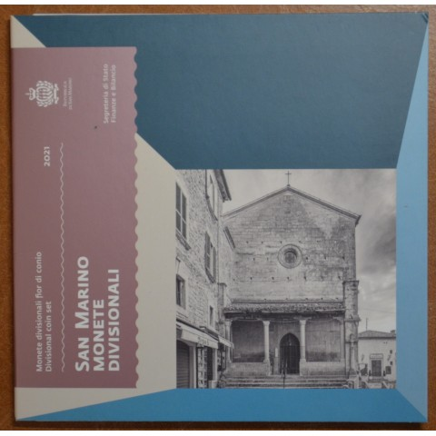 San Marino 2021 set of 8 eurocoins (BU)