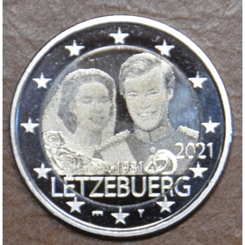 2 Euro Luxembourg 2021 - 40th Wedding Anniversary of Maria Teresa and Henri version foto/bridge (BU)