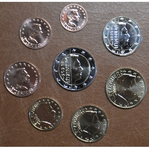 """Luxembourg 2021 set of 8 coins with mintmark """"bridge"""" (UNC)"""