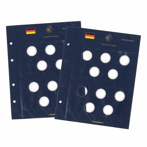 Sheet into Leuchtturm Vista albums for German 10 Euro coins