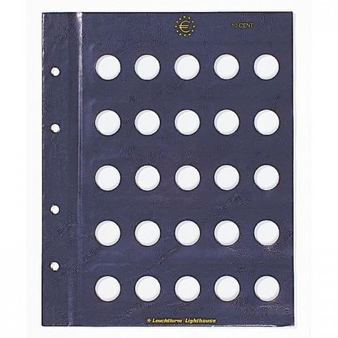 2 sheets into Leuchtturm Vista albums for 10 cent coins