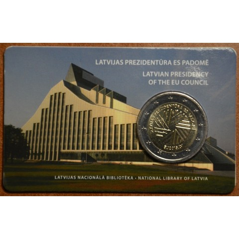 2 Euro Latvia 2014 - Latvian presidency of the EU (UNC card)