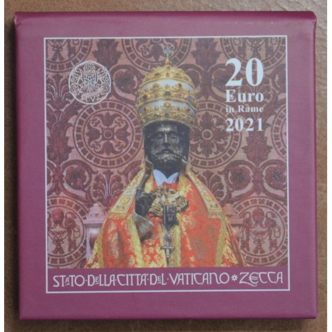 20 Euro Vatican 2021 - Art and Faith: St. Peter (UNC in box)