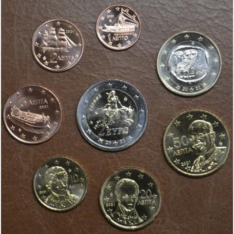 Greece 2021 set of coins (UNC)