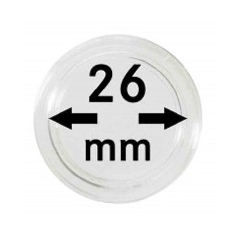 Lindner coin capsules for 2 Euro (26 mm)
