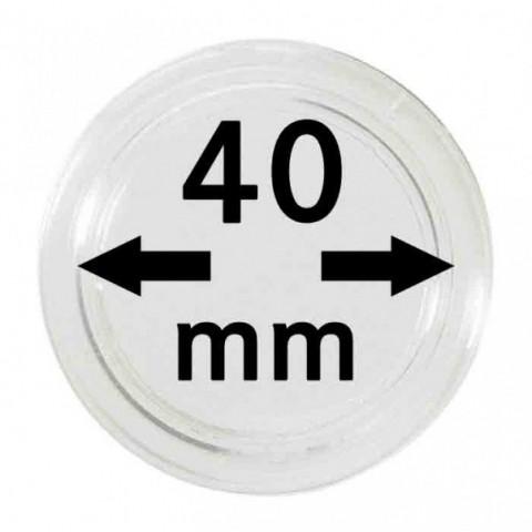 Lindner coin capsules 40 mm (10 pcs)
