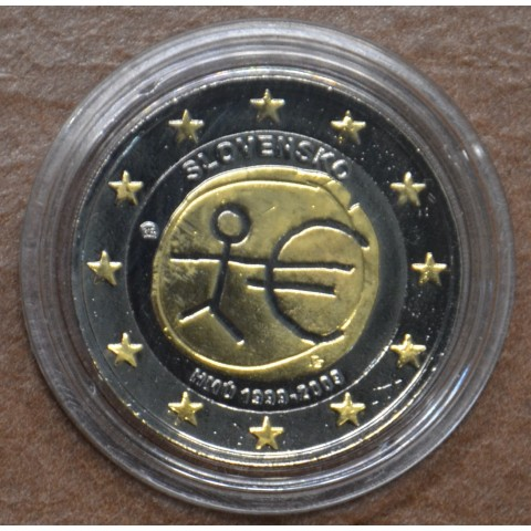 2 Euro Slovakia 2009 - 10th Anniversary of the Introduction of the Euro (ruthenium-gold plated)