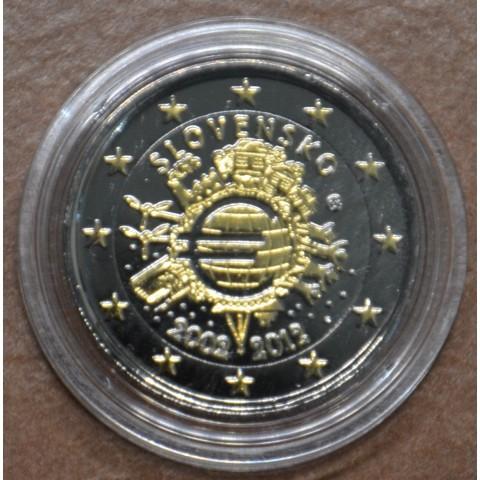 2 Euro Slovakia 2012 - Ten years of Euro (ruthenium-gold plated)