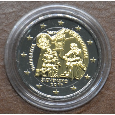 2 Euro Slovakia 2017 - Univerzita Istropolitana (ruthenium-gold plated)