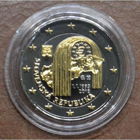 2 Euro Slovakia 2018 - 25 year of Slovak Republic (ruthenium-gold plated)