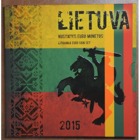 Unofficial set of 8 coins of Lithuania 2015  (BU)