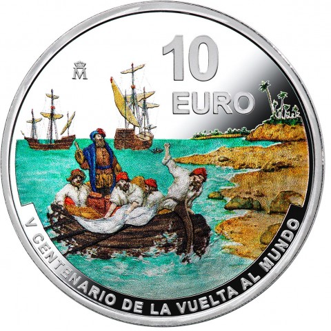 10 Euro Spain 2021 - 1st Round-The-World Voyage (Proof)