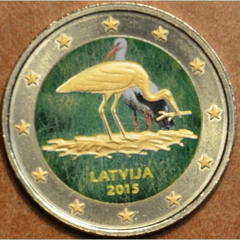 2 Euro Latvia 2014 - Black stork V. (colored UNC)